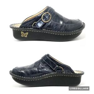 Alegria Navy Blue Seville Night Gleam Clogs